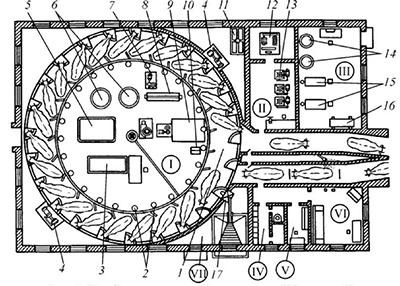Схема доильного зала карусель